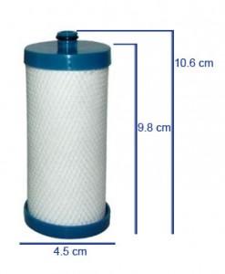 Filtre WF1CB - filtre frigo PURESOURCE / RG-100 Frigidaire d'origine dimensions
