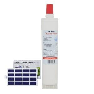 Filtre 4396508 - Filtre frigo compatible Whirlpool + Filtre Anti-bactérien - Crystal Filter